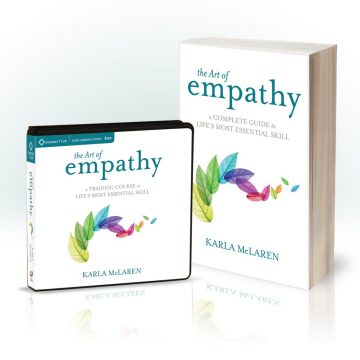 Book and audio covers of The Art of Empathy by Karla McLaren